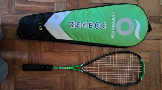 Raquetes de Squash usadas + Raqueteira Wilson + 2 bolas
