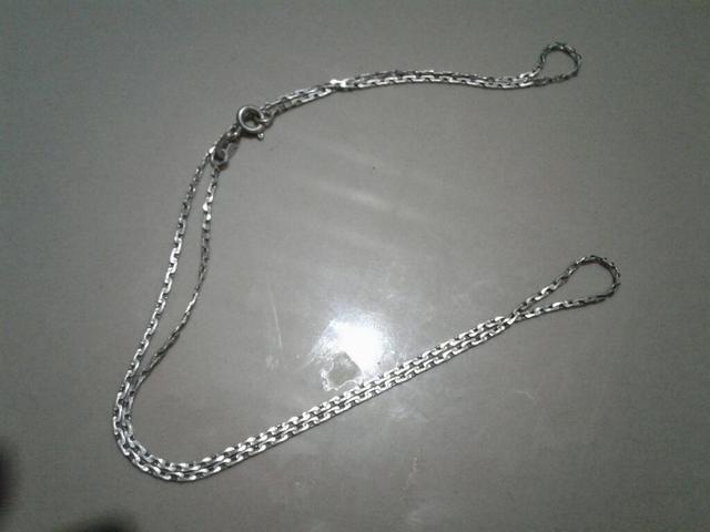 V/T cordão d prata p/mochila p/menino