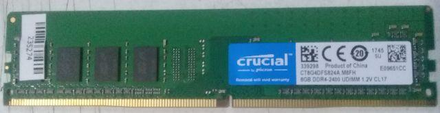 Memórias Crucial Ddr4 8gb 2400mhz P/ Desktop