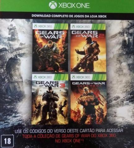 Código coleção Gears of War xbox 360 e Xbox One