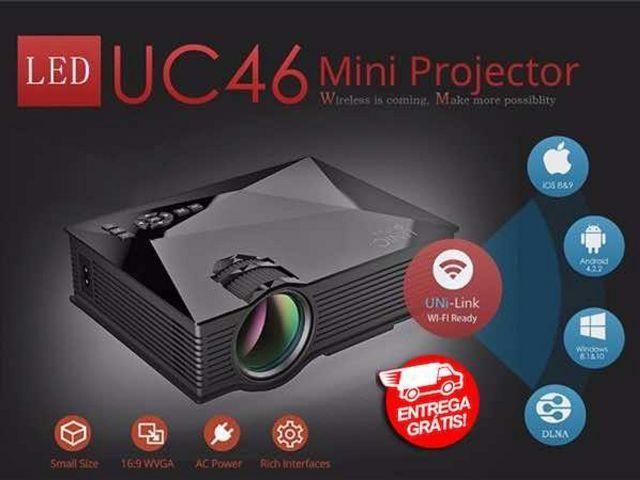Mini Projetor Led Uc46 Wifi 1200 Lumens Unic Portátil Hdmi - Novo - Entrega Grátis