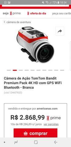 Câmera de ação em 4k
