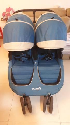 Carrinho de Bebê para Gêmeos City Mini Baby Jogger Double - Foto 4
