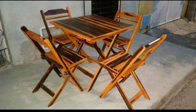 Conjunto de mesas c/ cadeiras - Foto 3