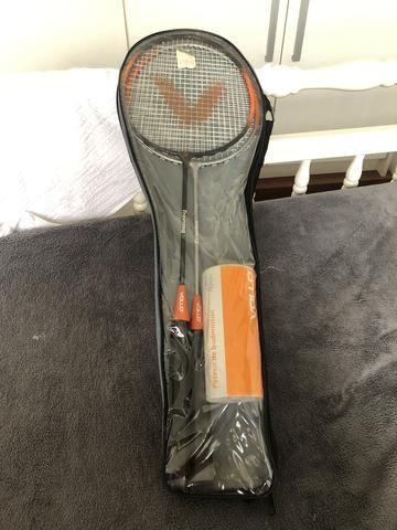 c4377cc1bf788 KIT Badminton VOLLO - 2 raquetes   3 petecas - Esportes e ginástica ...