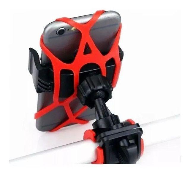 Suporte Bicicleta E Moto Celular Universal Tomate Mtg-015  - Foto 3