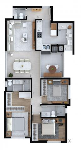 Apartamento residencial para venda, Cristo Rei, Curitiba - AP6996. - Foto 10