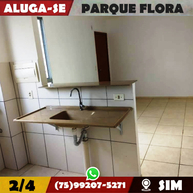 Parque Flora 2/4-Com Armários Na-Cozinha e Banheiro-Bairro-Sim-Feira de Santana-BA - Foto 6
