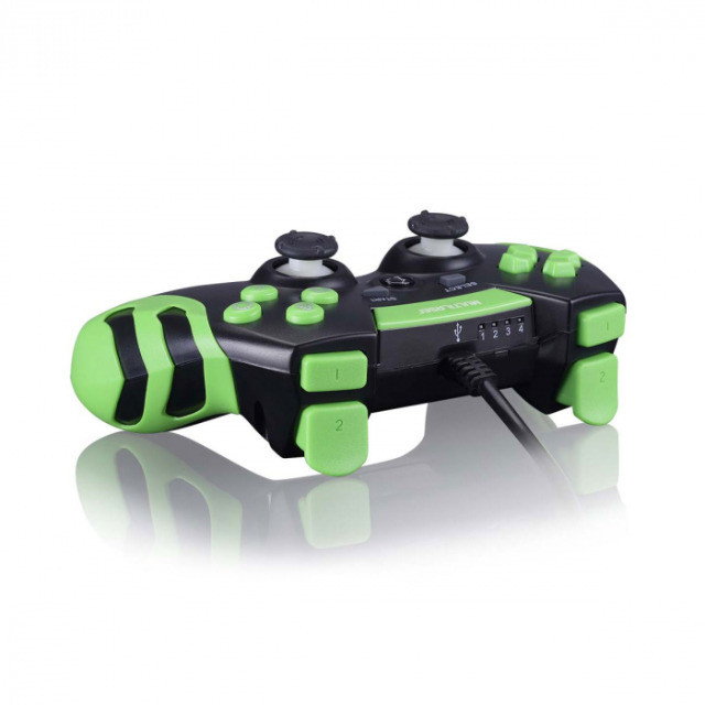 Controle Gamer Ps3 E Pc Preto E Verde Js091 Multilaser - Foto 2