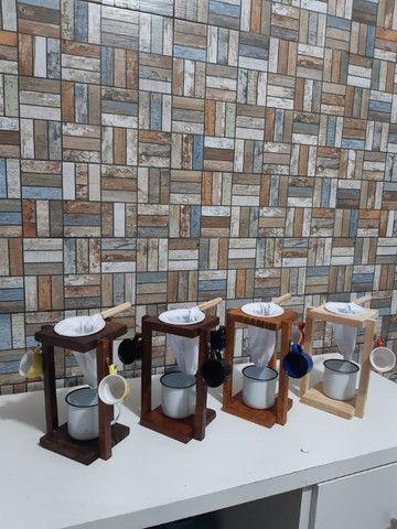 Mancebo de madeira para café - Foto 3