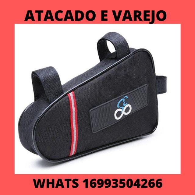 Bolsa Triangular De Quadro Para Bike Refletiva Case Bag