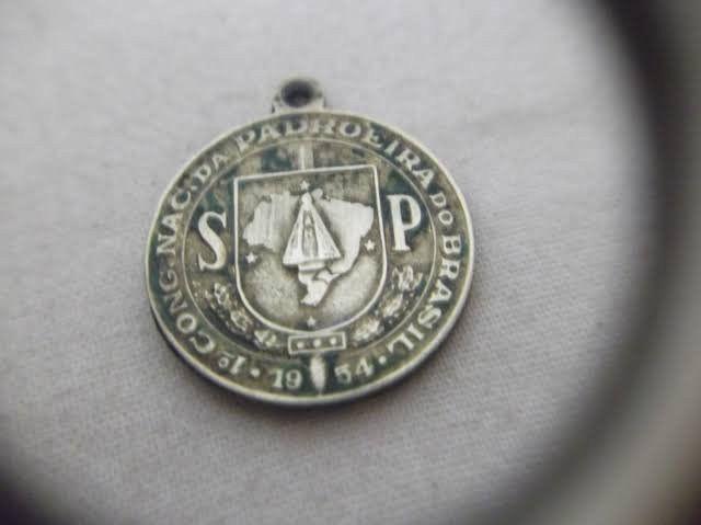 Medalha antiga primeiro congresso nacional Nossa Senhora Aparecida - Foto 2