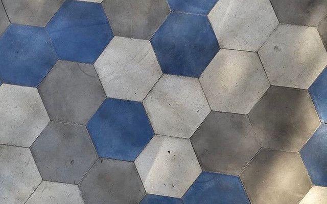 Ladrilhos hidráulicos 15x17 hexagonal liso