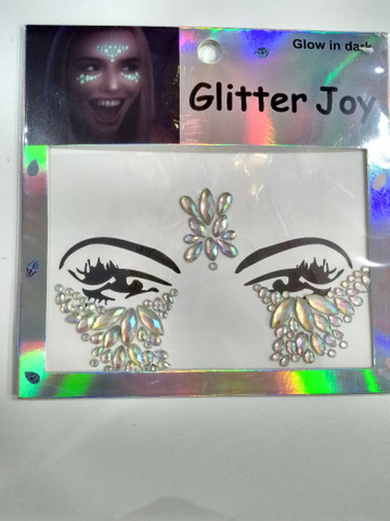 Adesivo de glitter para o rosto brilha no escuro  - Foto 3
