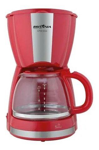 Cafeteira Britânia CP30 Inox vermelha 110V<br><br> - Foto 3