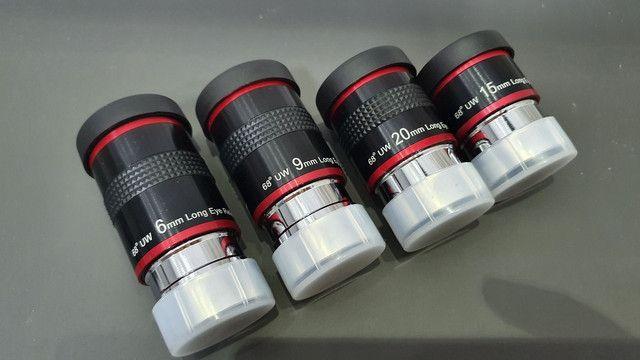 Kit  4 Oculares Telescópio - 68 Graus - 1,25