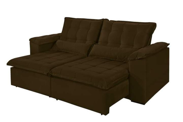 Sofa retratil e reclinavel tres marias 2,50m SUP728 - Foto 3