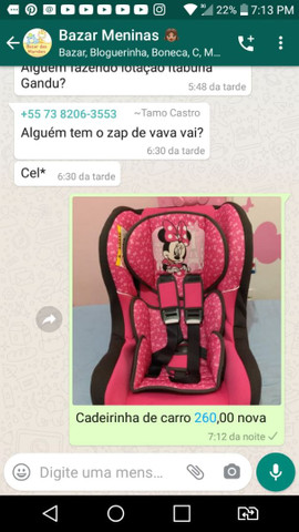 Vendo cadeira automotiva da Disney
