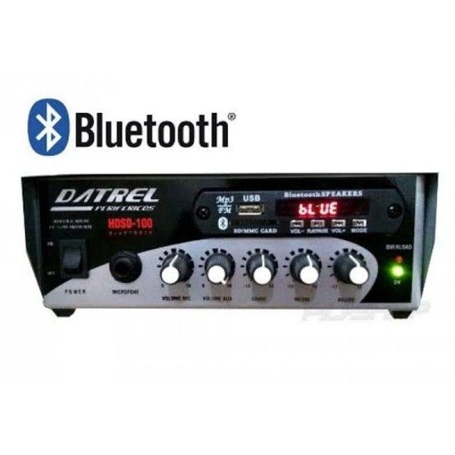AMPLIFICADOR DATREL HDS100 BLUE AMBIENTE 100W - 2CANAIS C/USBFM