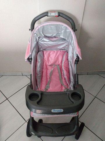 Carrinho de bebê Burigotto+bebê conforto - Foto 4