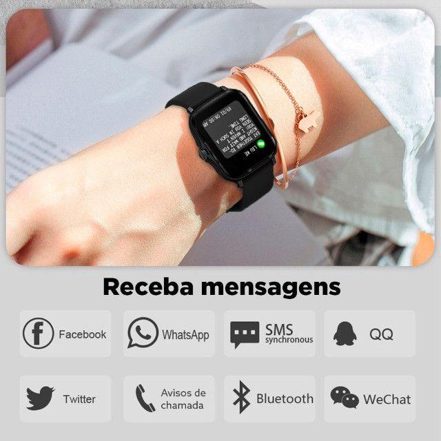 "Smartwatch Bluetooth Colmi P8 Plus Preto 1.69"" Lançamento 2021 - Foto 2"