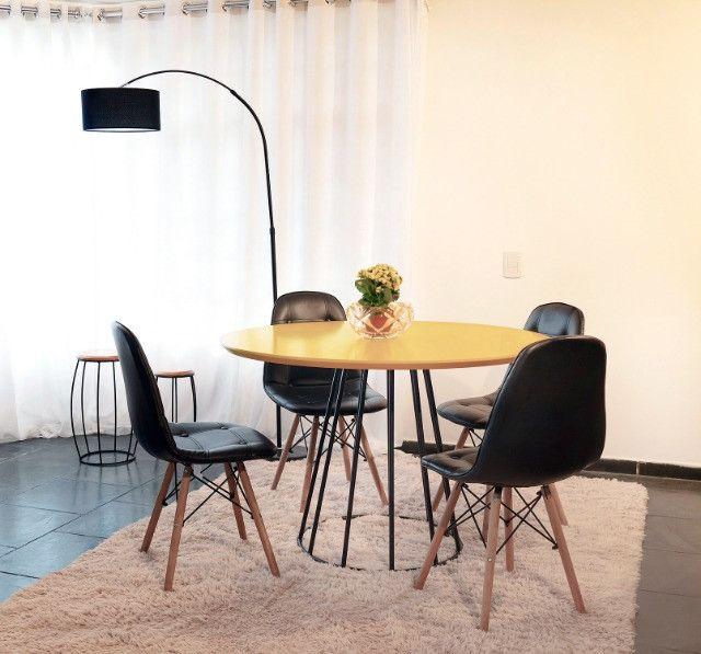 Conjunto de Mesa 1,10 de diâmetro + 4 cadeiras - Foto 5