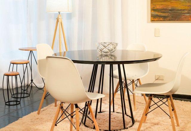 Conjunto de Mesa 1,10 de diâmetro + 4 cadeiras - Foto 2