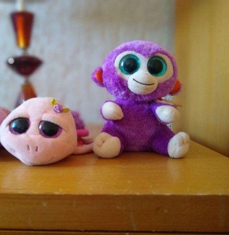 Kit Beanie Boos Zoiudos: Macaco e tartaruga Marca:TY