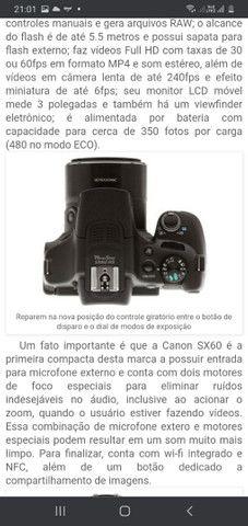 Vendo câmera Canon  Pawershot sx60 hs - Foto 3
