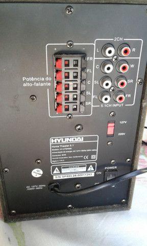 Home-Theater 5.1 da Hyundai ( a mesma da marca do carro!) som de cinema em sua casa - Foto 6