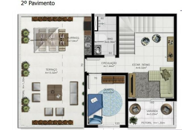 Cobertura Duplex, 4 quartos sendo 1 suíte, 2 vagas, Belém PA - Foto 4