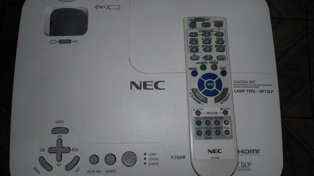 Projetor NEC v260r semi novo HDMI