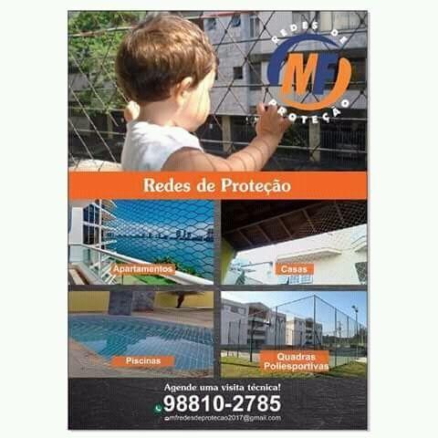 Rede de Proteção janelas,varandas,piscinas e etc