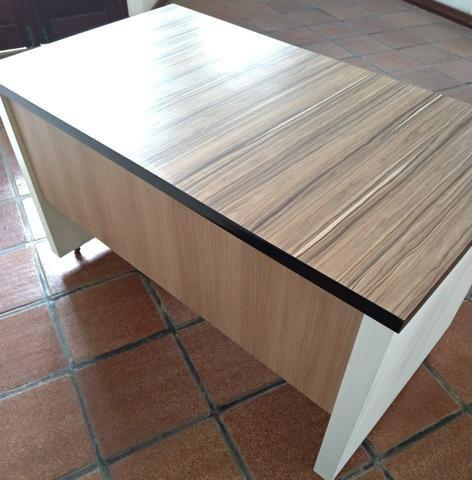 Mesa de Escritório MDF madeirado - Foto 3