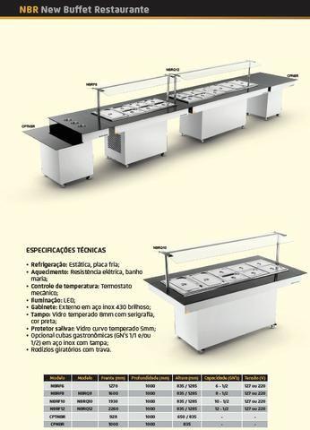 Self service buffet em tam. e mod. diferentes (restaurantes) - NOVO - Foto 2
