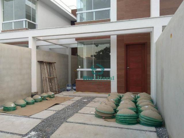 Casa com 3 dormitórios à venda, 115 m² por R$ 370.000 - Ouro Verde - Rio das Ostras/RJ - Foto 3