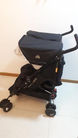 Carrinho de Bebê para Gêmeos Maclaren Twin Techno Black - Foto 3