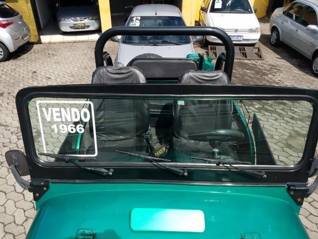 Jeep Willys 4x4 gasolina 1966/66. Muito novo. Raridade! Confira! - Foto 11
