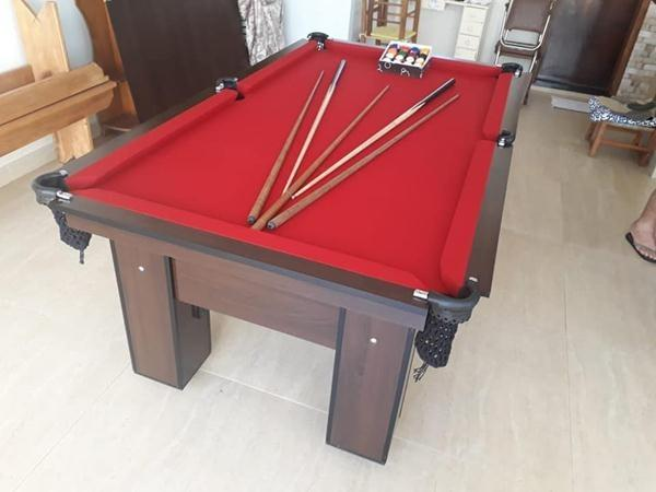 Mesa de Sinuca Quatro Pés e Redes Cor Vermelha e Preta Tx Modelo QFR3001 - Foto 2
