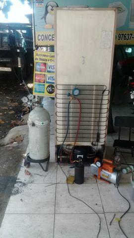 Serviço refrigeração e máquina
