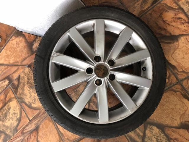 Jogo de rodas 5x112 - ARO 17 do Jetta 2012 - com detalhe - Foto 3