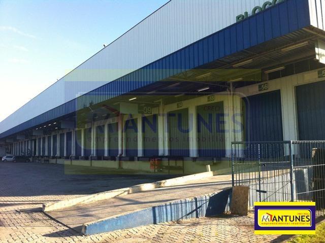 GA-0383 - Alugue galpão em condomínio com 927 m² Prazeres, possui 04 docas (plataforma) - Foto 2