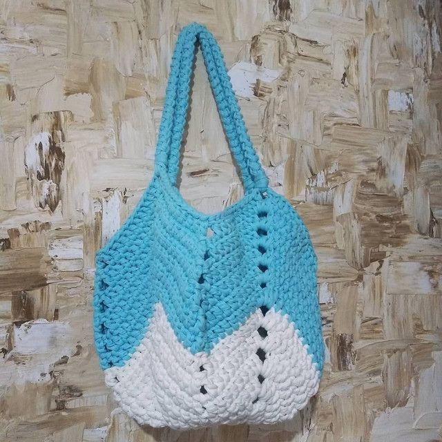 Bolsa de crochê - Foto 2