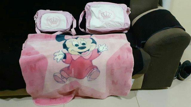 Bolsa saída de maternidade e cobertor