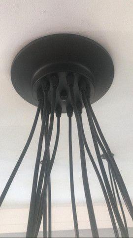 Lustre com 12 braços e 12 lâmpadas filamento - Foto 3