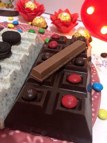 Barra de chocolate recheada - Foto 5