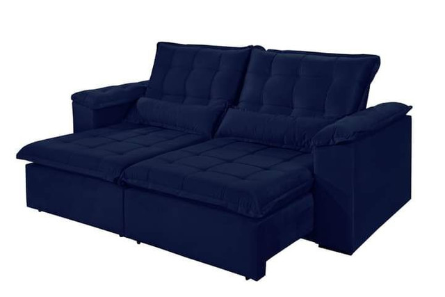 Sofa retratil e reclinavel tres marias 2,50m SUP728 - Foto 4