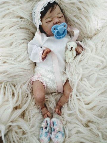 Reborn mini bebezinha pronta entrega  - Foto 2