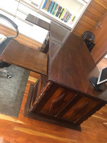 Escrivaninha antiga mesa escritório - Foto 4