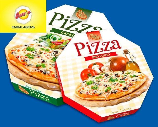 50 Caixas Embalagem Pizza Broto 25cmOitavada Fotográfica Reforçada Padrão ou Personalizada
